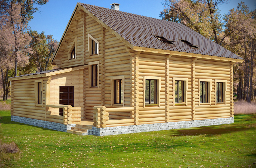 Meadow pine log cabin plan log home plans for Colorado log home plans