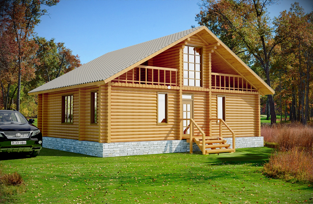 Forest elf log cabin plan log home plans for Colorado log home plans