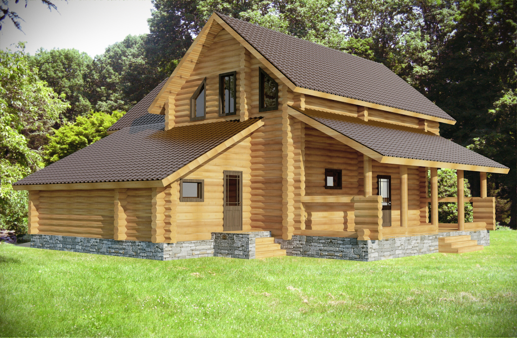 Wilderness castle log cabin plan log home plans for Colorado log home plans